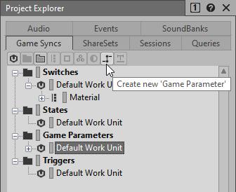 game parameterの作成