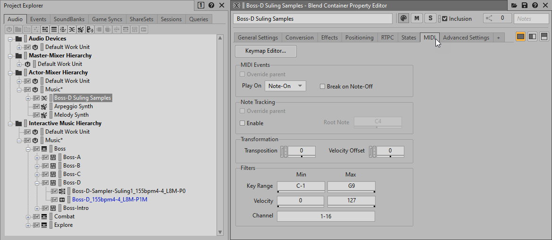 Using MIDI Filters