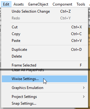 Wwise Settings